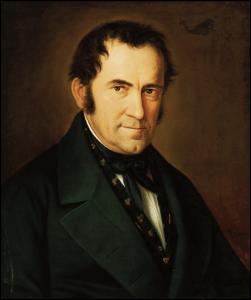 Franz Xaver Gruber, painting by Sebastian Stief (1846)