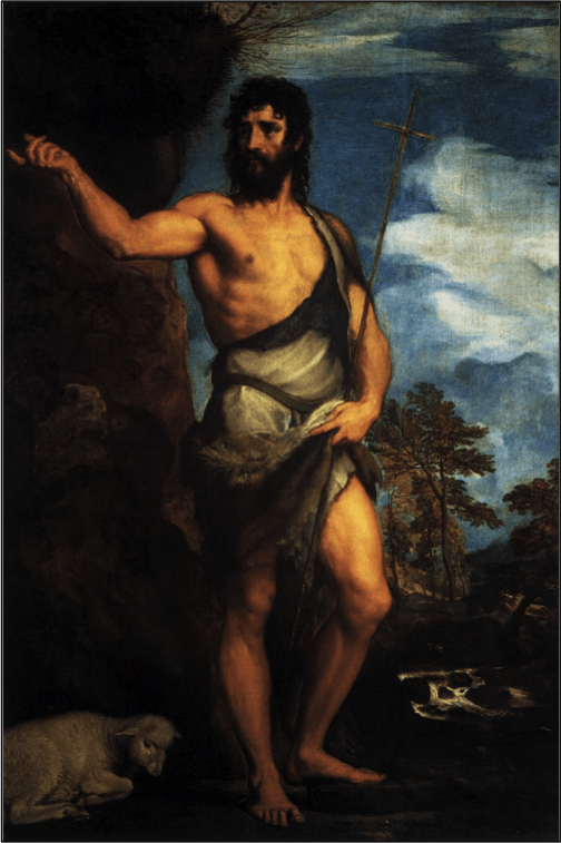 John the Baptist in the Wilderness, painting by Titian (c. 1542)
