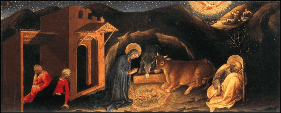 The Nativity by Gentile da Fabriano (c. 1370-1427) from the Strozzi Altarpiece (Italy)